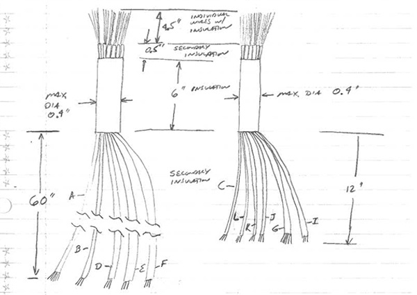 Cable Assembly Napkin Sketch