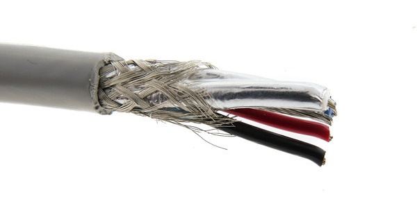 Cable Assembly with Braid and Foil Shield