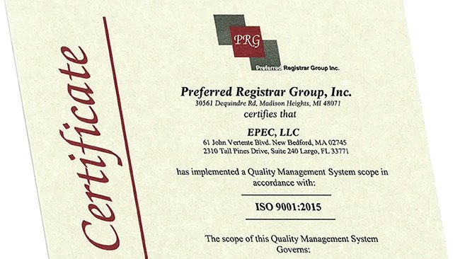 Epec ISO Certification