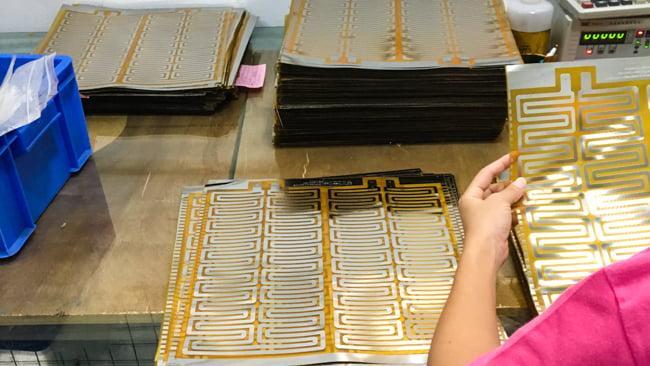 Etched foil-element flexible heater