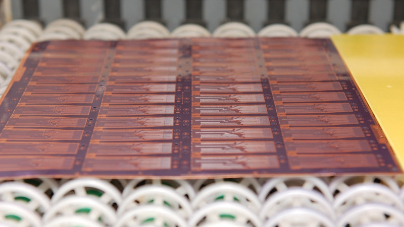 Flexible PCB During the Etch Process