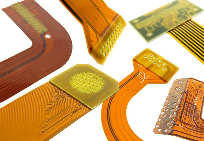 Flexible PCBs with various types of stiffeners