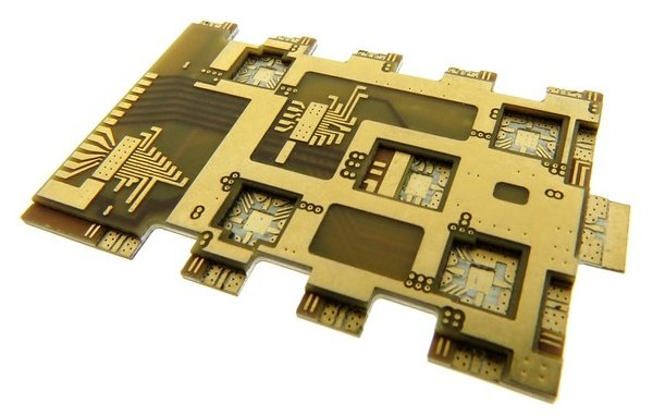 Complex RF Hybrid PCB design with internal pockets