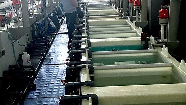 Aerial View of PCB Cleaning During ENEPIG Process