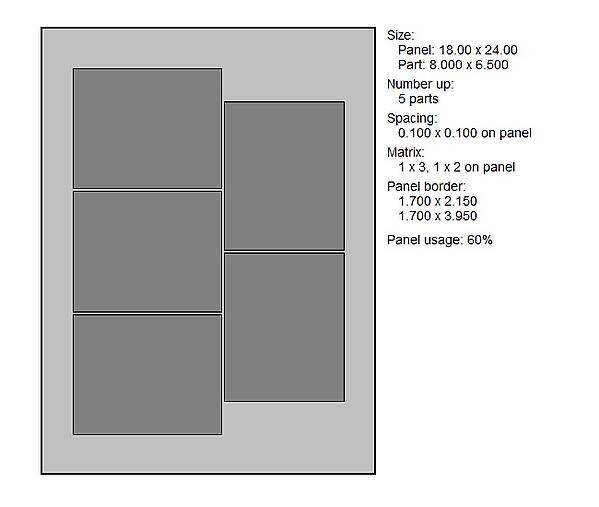PCB Panel Array with Increased Usage