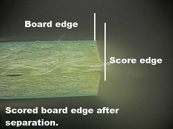 PCB Scored Board Edge After Separation