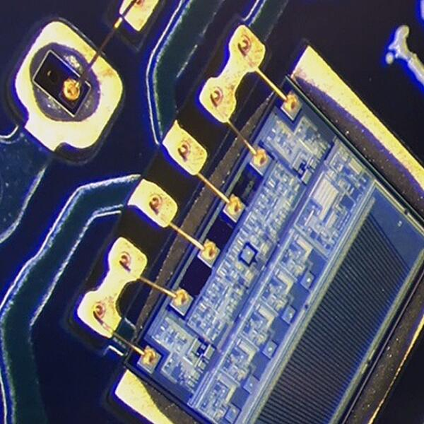 Magnification of PCB Showing Black Pad