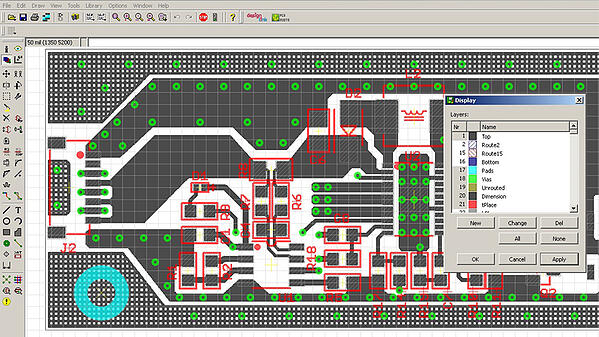 PCB viewed in native cad program