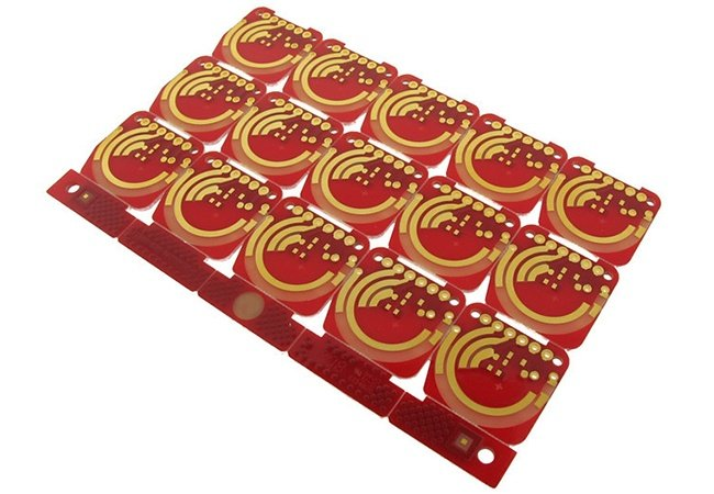 PCB manufactured with hard gold surface finish