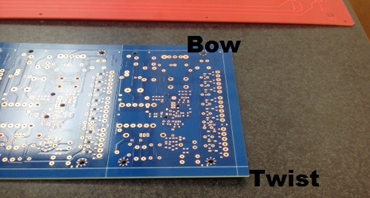 Printed Circuit Board with Bow and Twist