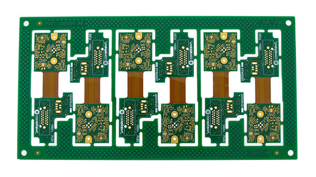 Rigid-flex circuit board designed without stiffeners