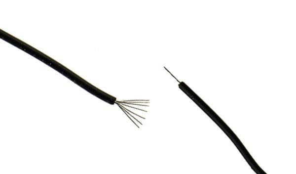 Example of a Stranded and Solid Cable