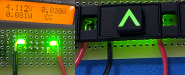 150 mcd luminance SMT LED.