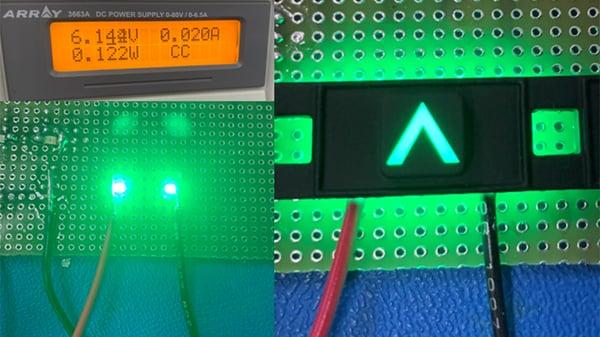 250 mcd luminance SMT LED.