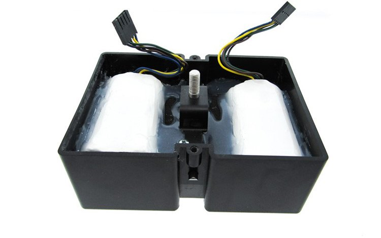 Battery pack inside injected molded plastic enclosure