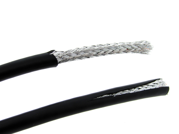 Braided shielding in a cable assembly.