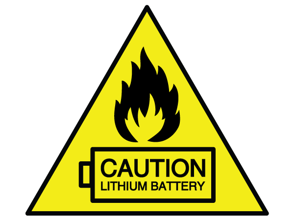caution lithium battery