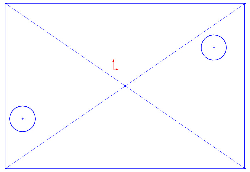 Example of an unconstrained sketch