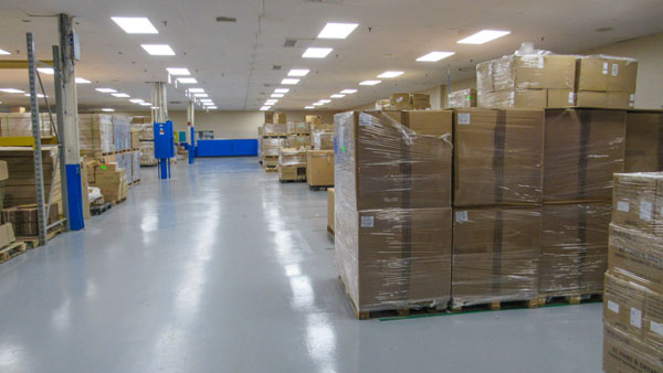 Example of a warehouse inventory management