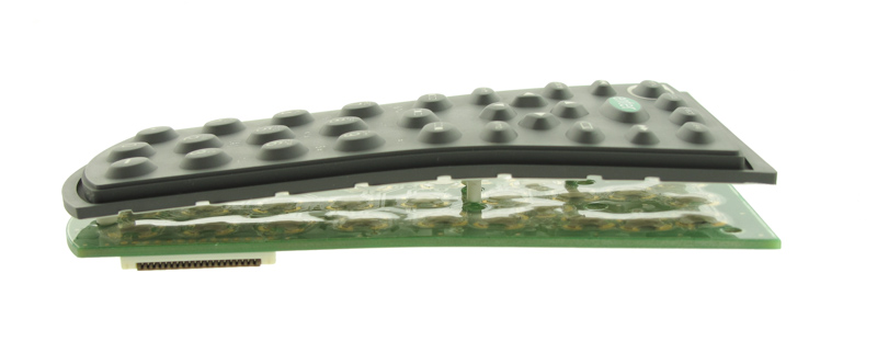 Layers of a rubber keypad membrane switch
