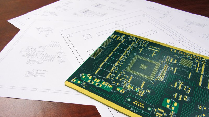 PCB with supplied documentation