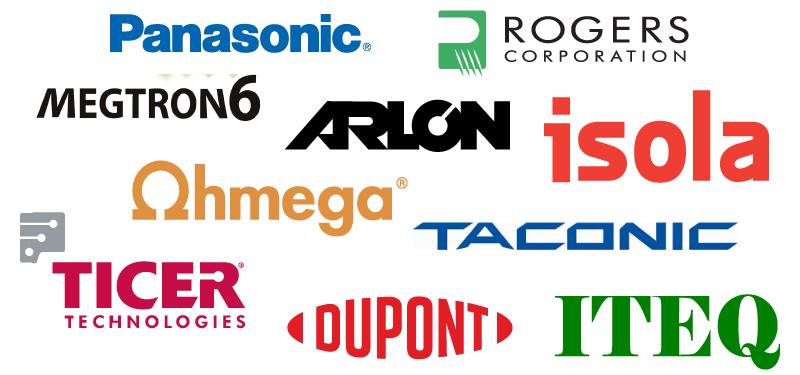 Various printed circuit board material manufacturers.