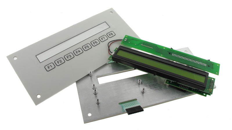 Rigid PCBA with separated membrane switch keypad.
