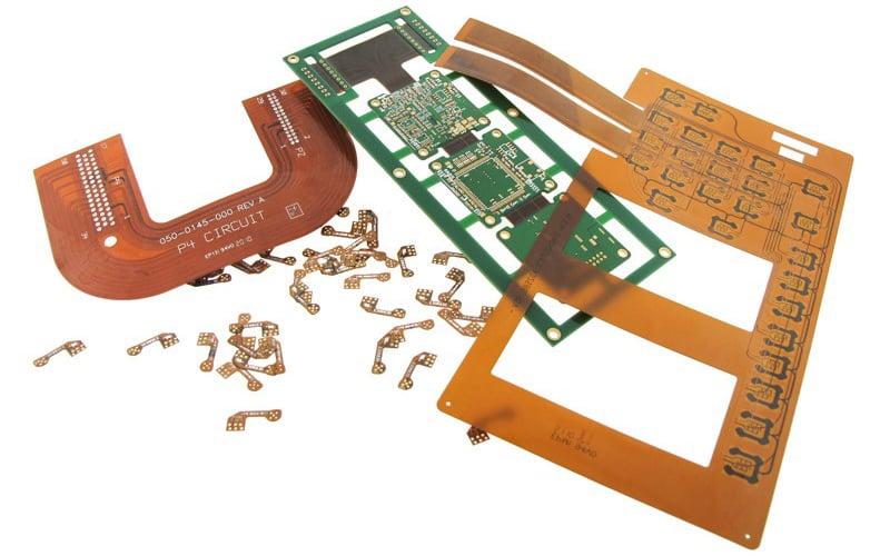 Example of various flex and rigid-flex circuit boards