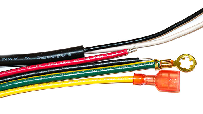 Examples of wire jackets clearly indicating the UL markings
