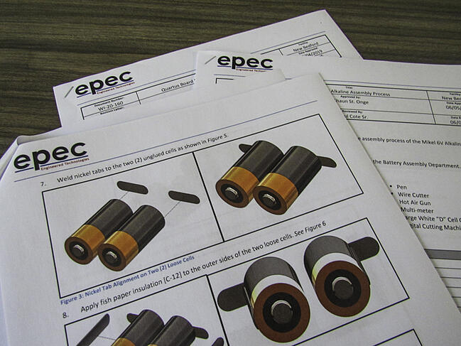 Example of Epec's Work Instruction Documents