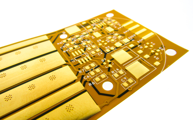 Flex circuit with solid layer of copper EMI shielding