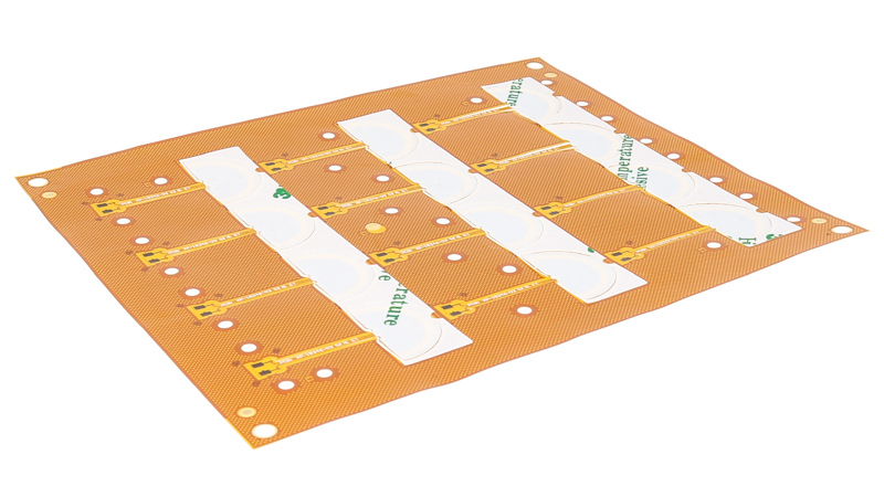 Example of a flex circuit with pressure sensitive adhesive