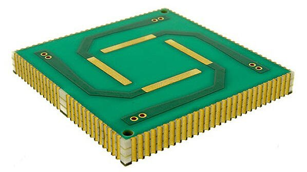 Printed circuit board with castellated edge plating