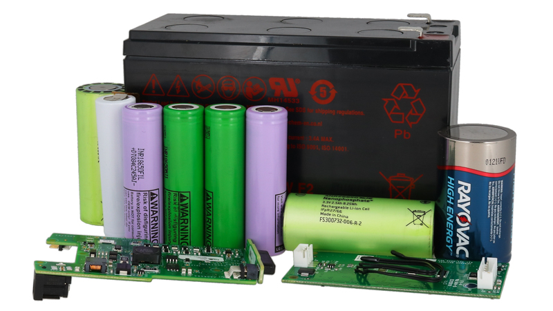 Various battery cells with battery management systems