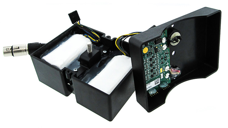 Battery back designed with custom enclosure, BMS, and cable assembly.