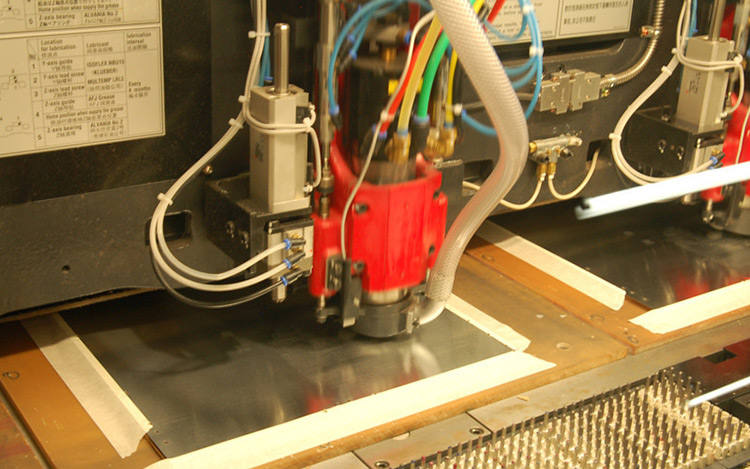 Example of a CNC drilling machine