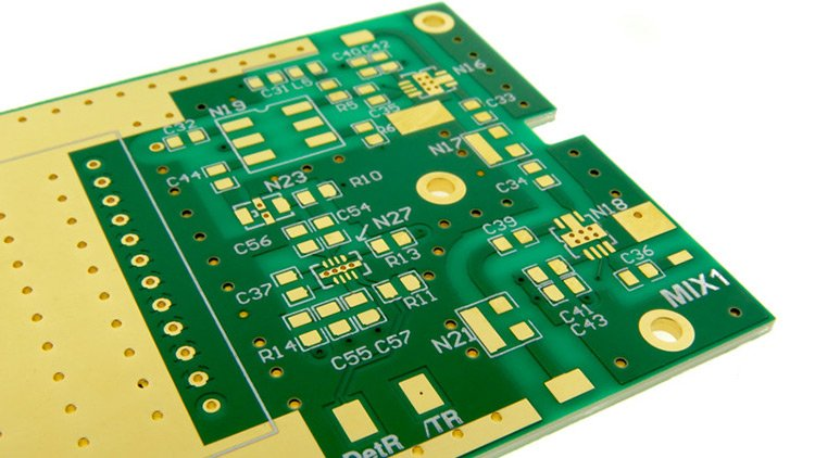 Example of an rf printed circuit board