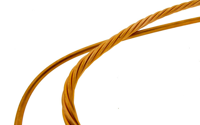 Example of stranded and solid copper wire conductor wire